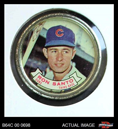 1964 Topps Coins # 68 Ron Santo Chicago Cubs (Baseball Card) Dean's Cards 4 - VG/EX (Chicago Cubs Coin Set)