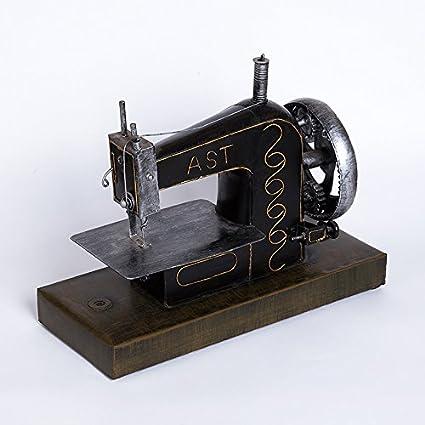HUAXI Decoración de Artesanía,Retro Vintage casa máquina de coser modelo Yépez porche decoraciones Industrias