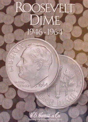 New Harris Roosevelt Dime 1946 - 1964 Coin Folder 2684
