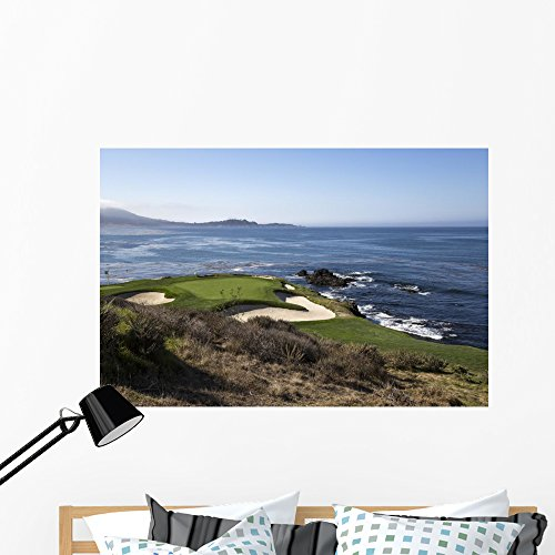Wallmonkeys Pebble Beach Golf Course Wall Mural Peel and Stick Graphic (48 in W x 32 in H) WM366261
