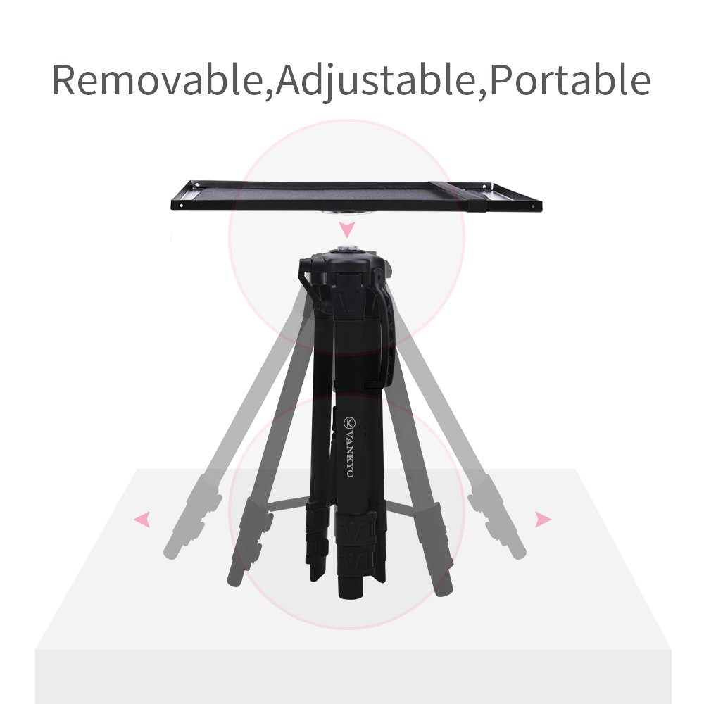 VANKYO Aluminum Tripod Projector Stand, Adjustable Laptop Stand, Multi-Function Stand, Computer Stand Adjustable Height 17'' to 46'' for Laptop with Plate and Carrying Bag (2-Black) by VANKYO (Image #4)
