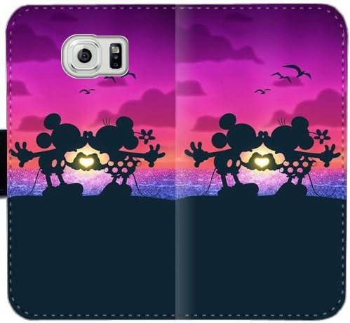 Funda Samsung GALAXY S6 Cartera de cuero,[Mickey Mouse Love Minie ...