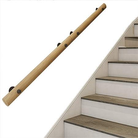 Pasamanos de Escalera de Madera Maciza - Kit Completo, Barandillas de terraza montadas en la Pared para escaleras Interiores, Poste de Soporte del ático del Corredor contra la Pared: Amazon.es: Hogar
