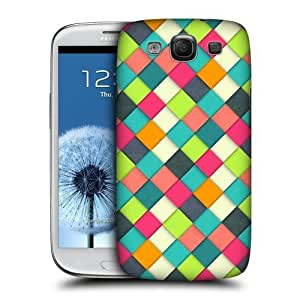 AIYAYA Samsung Case Designs Colourful Plain Woven Paper Patterns Protective Snap-on Hard Back Case Cover for Samsung Galaxy S3 III I9300