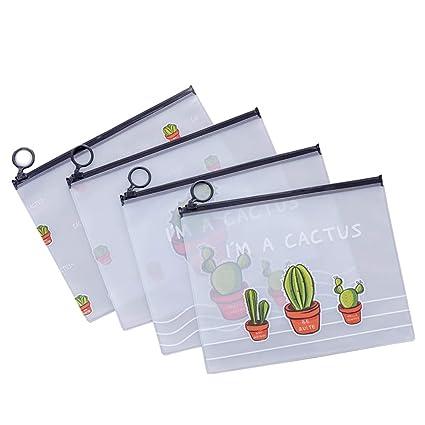 WRITIMN Cactus Pvc estuches de lápices a prueba de agua Set ...