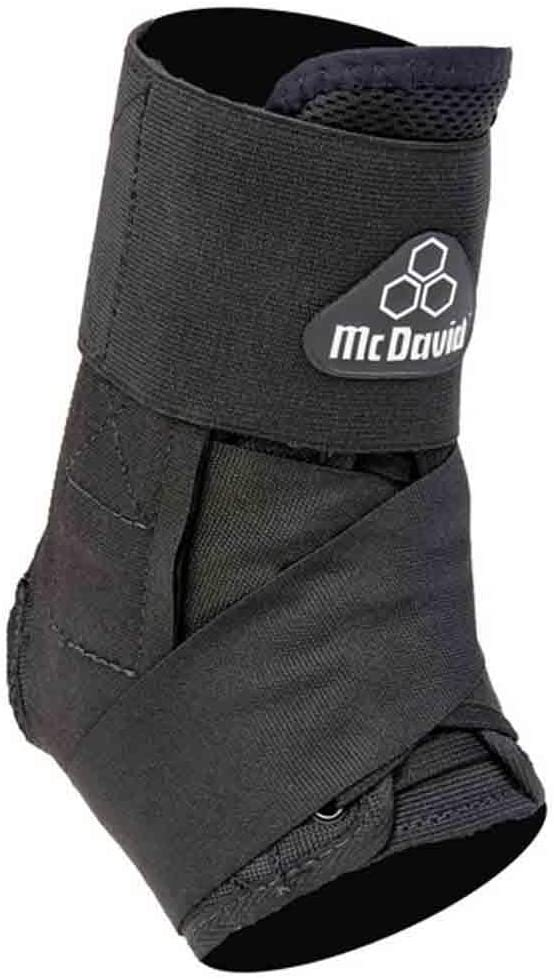 McDavidクラシックロゴ195 CLレベル3足首ブレースW /ストラップ – ブラック – Large