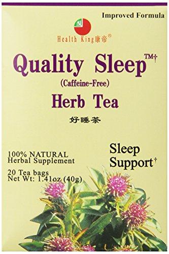 Health King Quality Sleep Herb Tea, Teabags, 20 Count Box