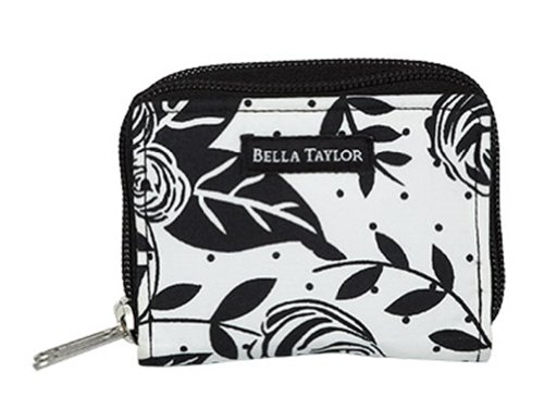 Bella Taylor Rose Pop Card Case Quilted Small Wallet ()