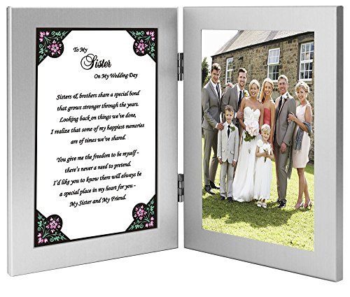Poem to My Sister on My Wedding Day - Sister Gift from Brother, The Groom - Add Photo
