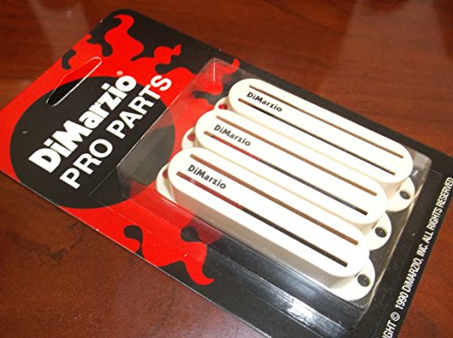 DiMarzio USA MADE DM2002 Fast Track Pickup Covers (3) - AGED WHITE