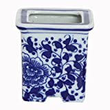 Health Household Baby Care Best Deals - FUYUAN Small Ceramic Flowerpot for Home Decoration ,Blue and White 440