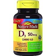Nature Made Vitamin D3 2000 IU Tablets, 220 Ct