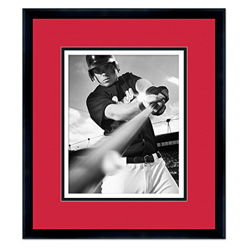 Cincinnati Reds Classic Black Wood Photo Frame Made to Display 8x10 Photos (Frame Reds Cincinnati Photo)