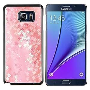 YiPhone /// Prima de resorte delgada de la cubierta del caso de Shell Armor - Patrón floral - Samsung Galaxy Note 5 5th N9200