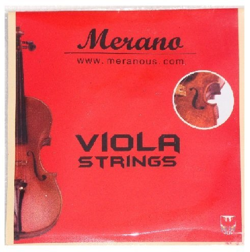 Merano MA400 10'' Hand Made Solid Wood Ebony Fitting Viola with Case, Bow+2 Sets of Strings+2 Bridges+Shoulder Rest+Black Music Stand+Metro Tuner+Rosin+Mute