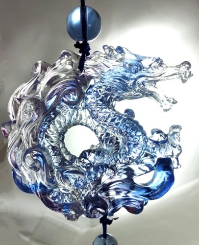 Feng Shui Liu Li Chinese Dragon Hanging for Prosperity (With a...
