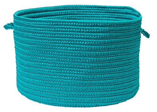 Colonial Mills BR56 18 by 18 by 12-Inch Boca Raton Solid Storage Basket, Turquoise