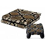 Mod Freakz Console and Controller Vinyl Skin Set – Brown Snake Scales Anaconda for Playstation 4