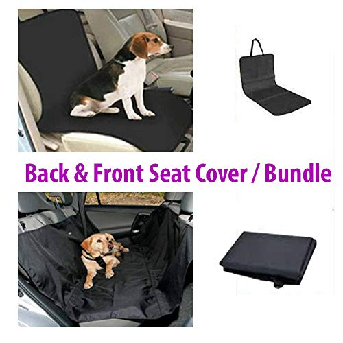 KP PET Back and Front Seat Cover for Pet | Bundle Pack | Waterproof and Durable | Hold Your Seats Clean from Dogs and Cats Hair