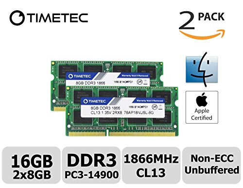 Timetec Hynix IC Apple 16GB Kit (2x8GB) DDR3 PC3-14900 1866MHz for iMac 17,1  w/Retina 5K display (27-inch Late 2015) A1419 (EMC 2834) MK462LL/A, MK472LL/A, MK482LL/A (16GB Kit (2x8GB)) by Timetec (Image #2)