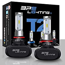 BPS Lighting T2 LED Headlight Bulbs Conversion Kit - 50W 8000 Lumen 6000K 6500K - Cool White - Super Bright - Car and Truck High and Low Beam - All-in One - Plug and Play … (9012)