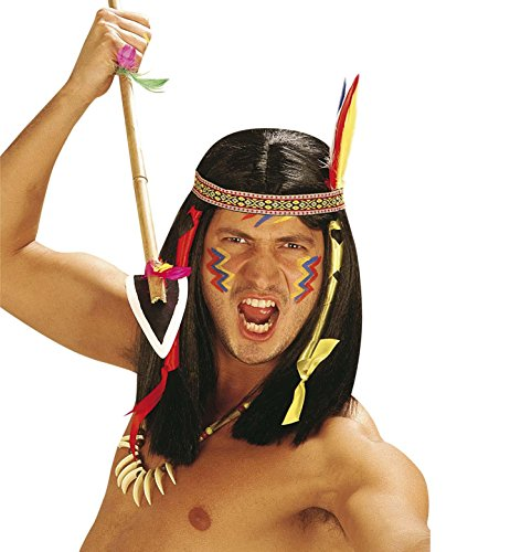 [Comanche Indian Wig For Fancy Dress Costumes & Outfits Accessory] (Comanche Costumes)