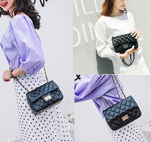 Quilted Small Mini Flap Handbags Bag Vintage for Quilted Chain Leather Crossbody Gold Bag Women Chain fqwZzXBq