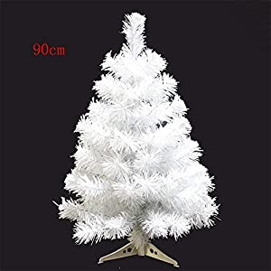 S-SSOY 3 Foot Christmas Trees Artificial Xmas Pine Tree with PVC Leg Stand Base Home Office Holiday Decoration 19