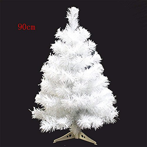 Gumdrop Christmas Tree - S-SSOY 3 Foot Christmas Trees Artificial Xmas Pine Tree PVC Leg Stand Base Home Office Holiday Decoration (White)