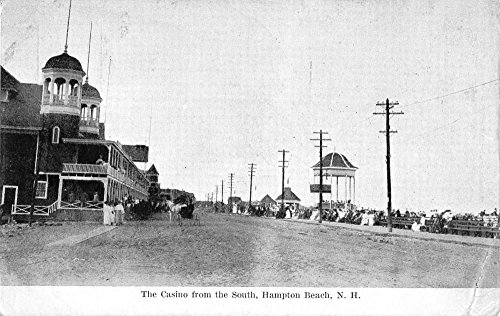 - Hampton Beach New Hampshire Casino Street View Antique Postcard K80630