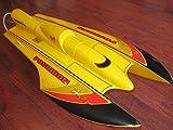 "Yellow 26"" RC EP Fiberglass FRP Blade Hydroplane Scale Kit Racing Boat"