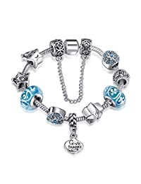 Presentski Forever Love Charm Bracelet Christmas Birthday Wish Gift for Women Girls