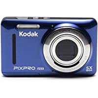 Kodak FZ53-BL Point and Shoot Digital Camera with 2.7 LCD, Blue