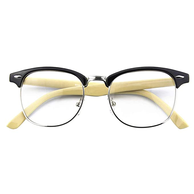 Amazon.com: Happy Store CN56 Gafas de estilo nerd wayfarer ...