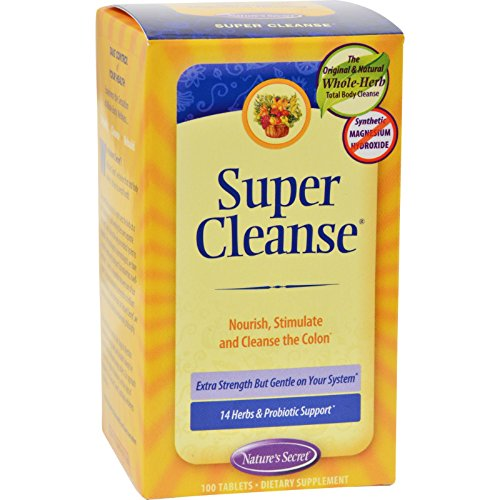 Nature's Secret Super Cleanse - 100 Tablets - 14 Herbs an...