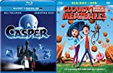 Cloudy with a Chance of Meatballs Animated DVD Blu Ray & Casper the Friendly Ghost awesome Family movie Set