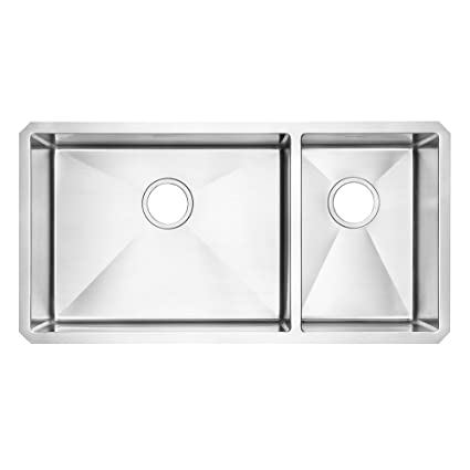 American Standard 12CR.361800.290 Prevoir Luxury Undermount 35 Inch  Stainless Steel Double Combination Bowl