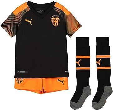 PUMA Valencia CF Segunda Equipación 2019-2020 Niño, Conjunto, Black-Vibrant Orange: Amazon.es: Deportes y aire libre