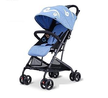 carrito de bebé- Se puede sentar y tumbar Ligero plegable Ultra-ligero portátil Carro