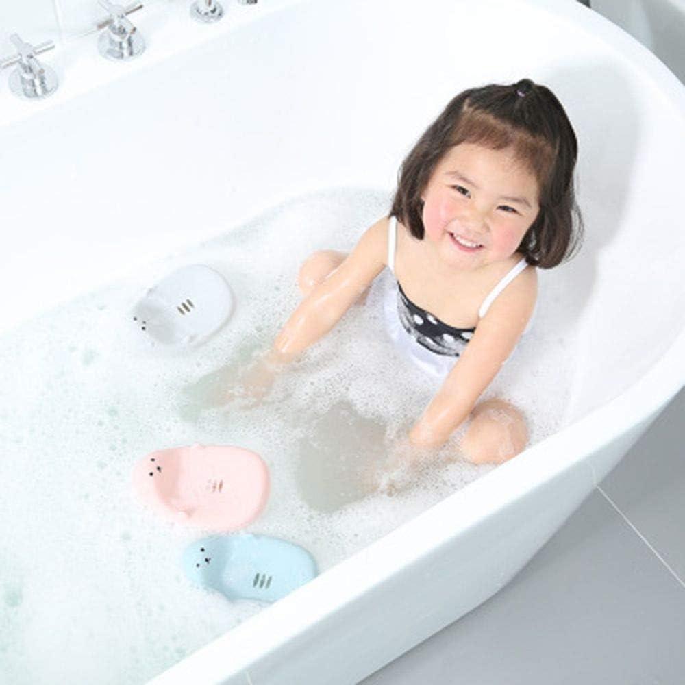 ORNOOU 3 Pieces Cute Cartoon Animal Soap Box Bathroom Creative Plastic Water Drain Soap Rack Washing Sponge Holder