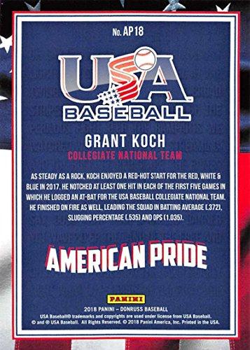 Verzamelingen 2018 Panini Donruss American Pride Crystals AP18 Grant Koch Rookie Baseball Card