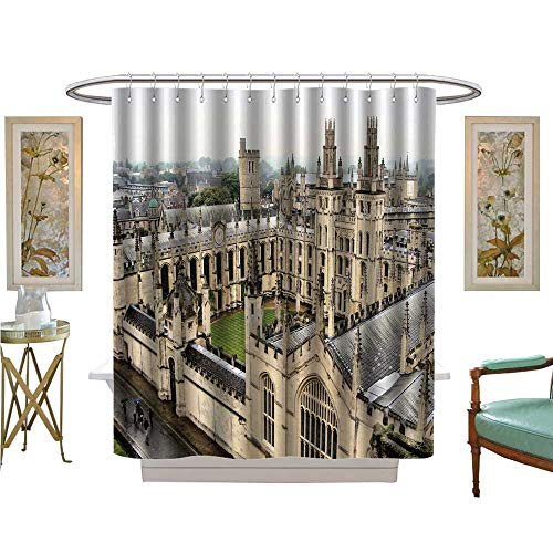 luvoluxhome Shower Curtain Collection by View Over The toric University of Oxford England Bathroom Decor Sets with Hooks W72 x ()