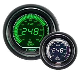 Oil Temperature Gauge- Electrical Green/white EVO Series 52mm (2 1/16\