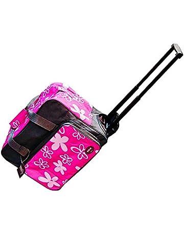 Maleta Trolley para máquina de coser Rosa/gris