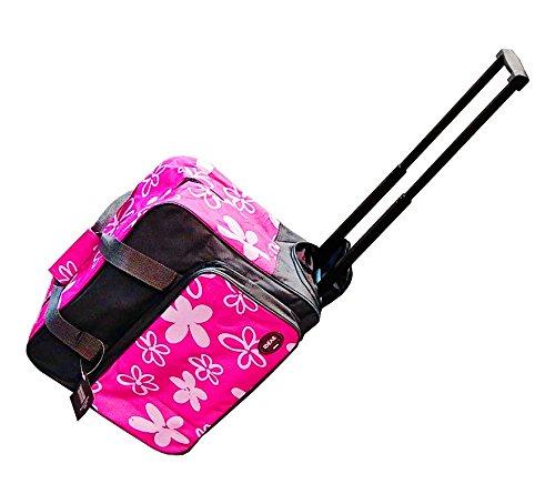 Valigia trolley per macchina da cucire, colore: rosa/grigio