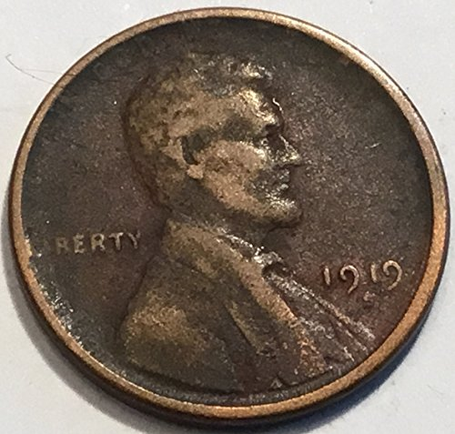 1919 Lincoln Wheat S Penny Fine