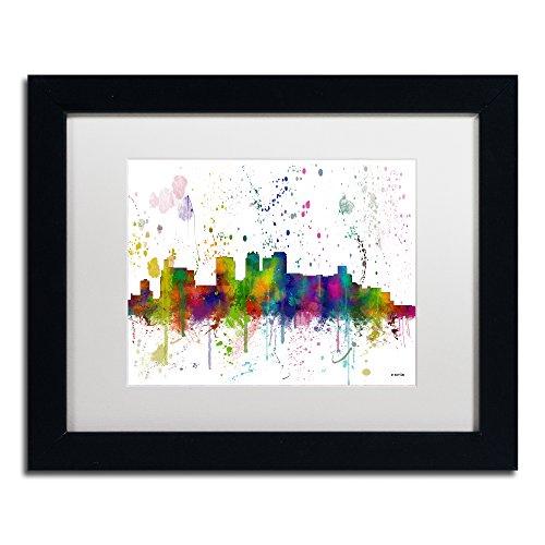 (Birmingham Alabama Skyline Mclr-1 by Marlene Watson, White Matte, Black Frame 11x14-Inch)
