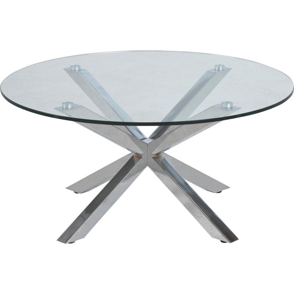 AC Design Furniture Couchtisch Heather, B  82 x T T T 82 x H  40 cm, Glas, Klar 59c994