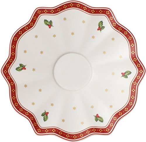 Villeroy & Boch Christmas Toy's Delight Mug and Saucer, Porcelain, White, 19 cm