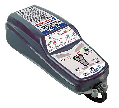 - OptiMATE 4 Dual Program, TM-341, 9-step 12V 1A Battery Saving charger-tester-maintainer